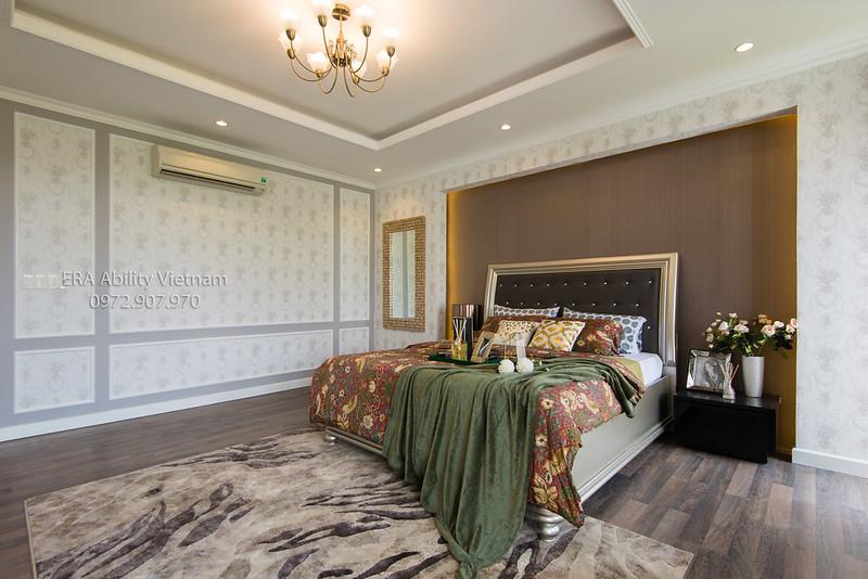 Phòng ngủ master nhà mẫu Biệt thự Villa Park