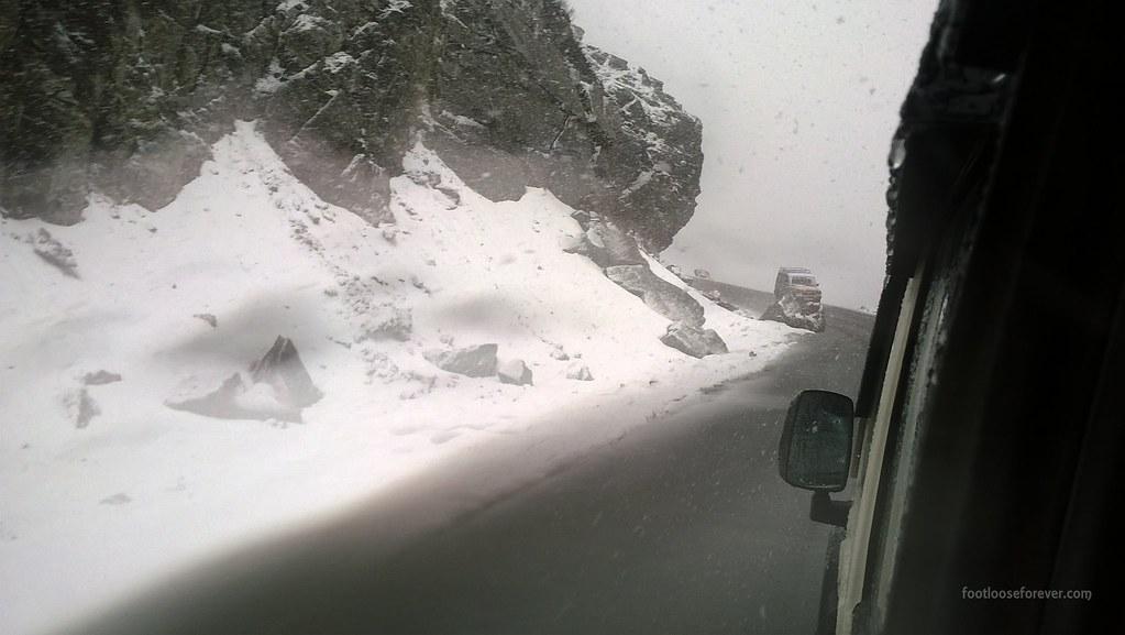snowfall, nathula, sikkim