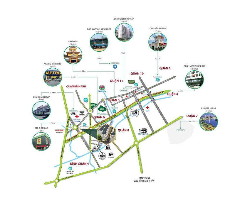 Vị trí dự án nhà phố Bùi Tư Toàn MDLand