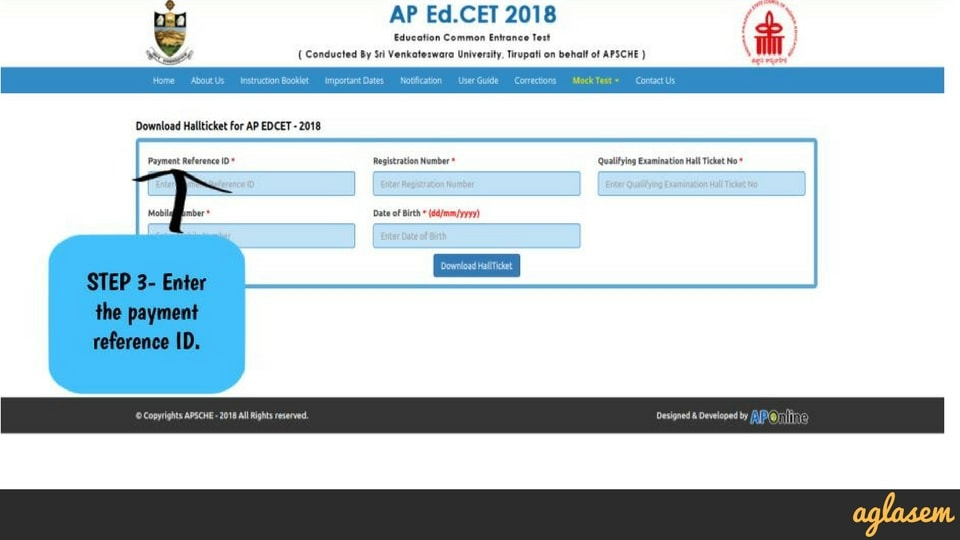 AP EdCET Hall Ticket / Admit Card 2018   Download Here