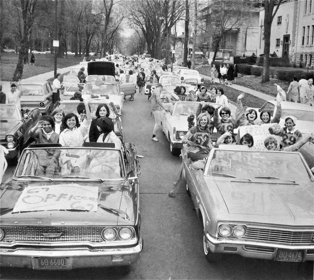 1967 Girls having fun in American built convertible cars a… | Flickr