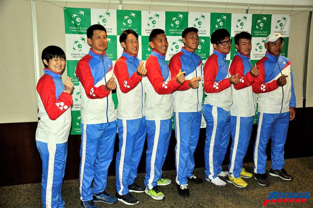 台維斯盃中華代表隊。(張哲郢/攝)