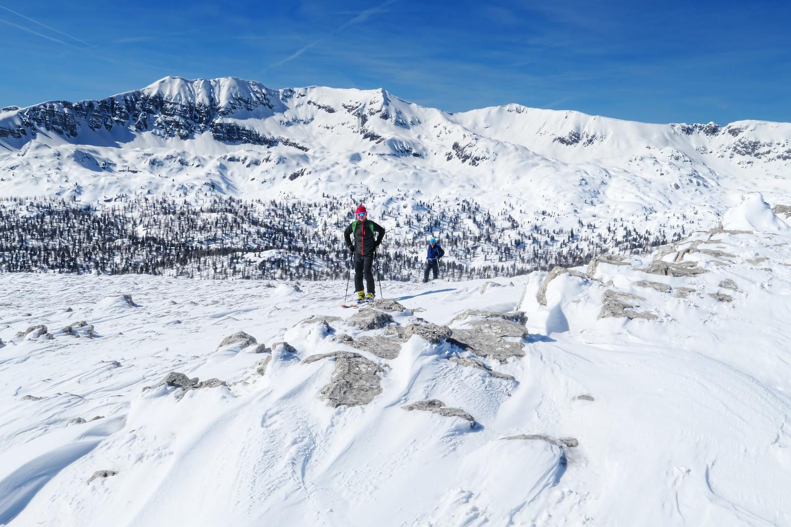 Těsně pod vrcholkem Angerkogelu