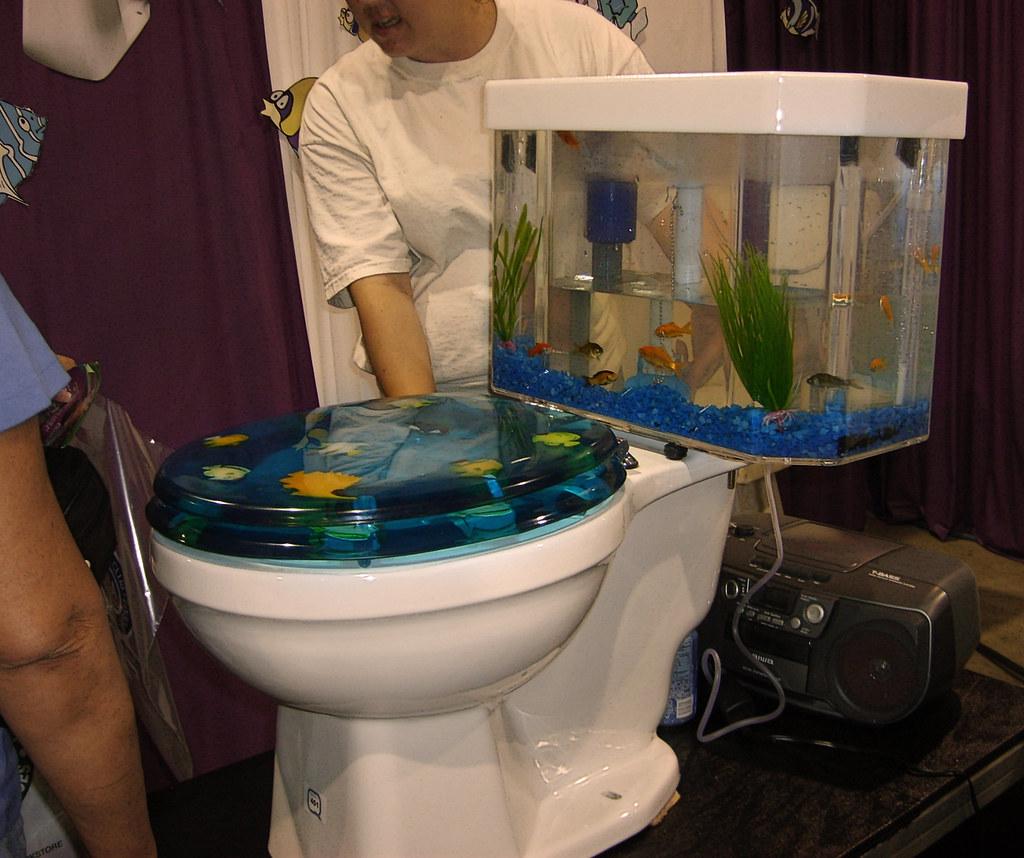 Fish tank toilet -  Finding Nemo By Fire Monkey Fish