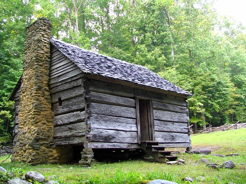 Historic Jim Bales Cabin Located In The Smokey Mountains