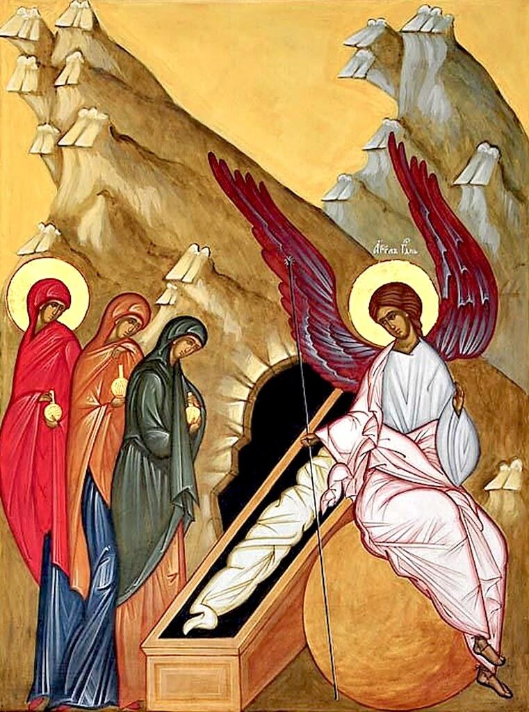 Икона Недели (Воскресения) 3-й по Пасхе, жен-мироносиц.