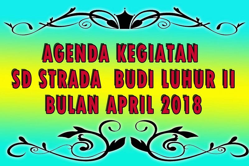 AGENDA KEGIATAN BULAN APRIL 2018