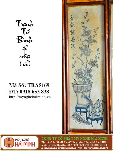 TRA5169h Tranh Tu Binh go Sua Co do go mynghehaiminh