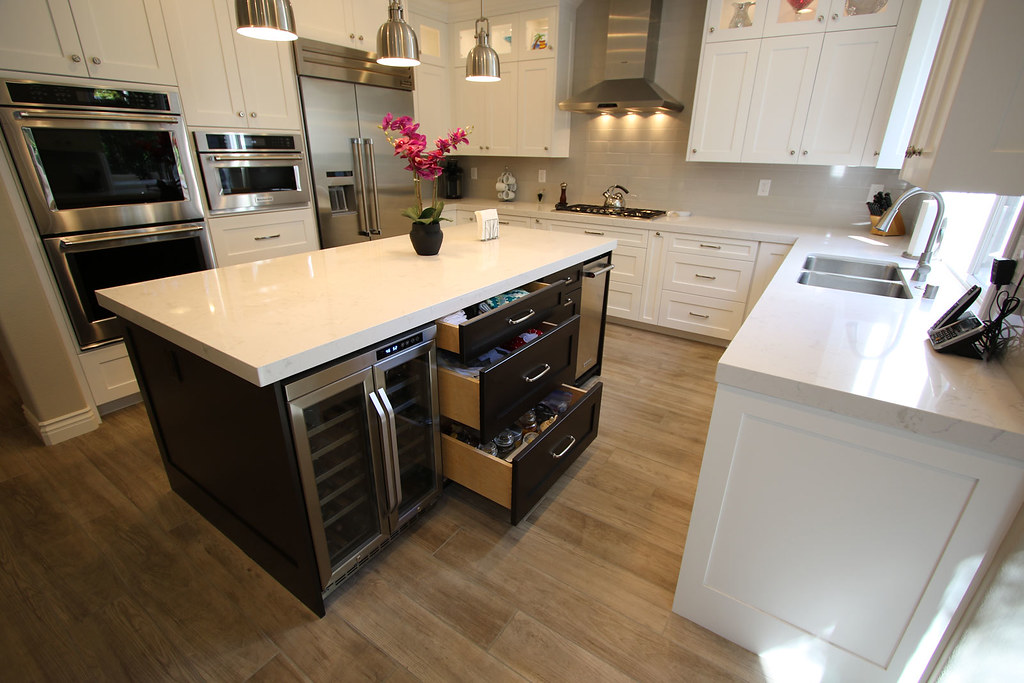 ... Design Build Complete #KitchenRemodel With Custom Island #Cabinets  Lightings In City Of Huntington Beach