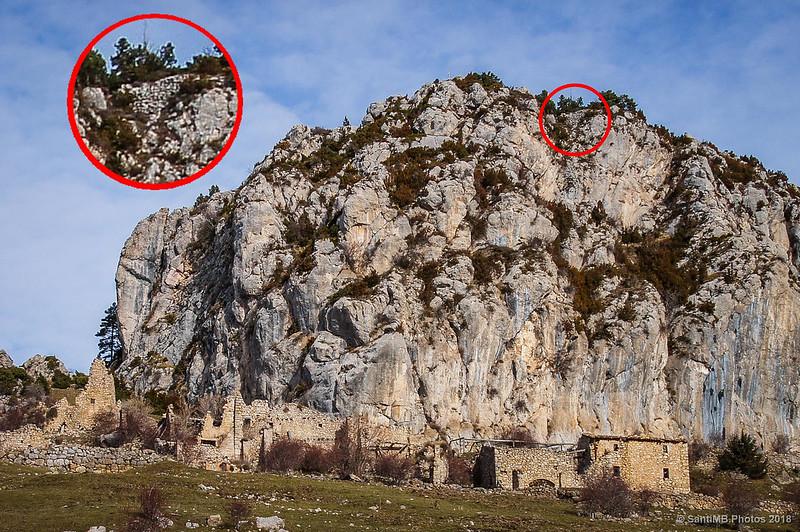 Restos del castillo de Peguera
