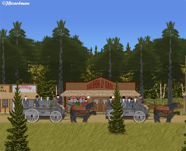 The lumberjacks mobilized in Brewster's Corners ©JBoardman