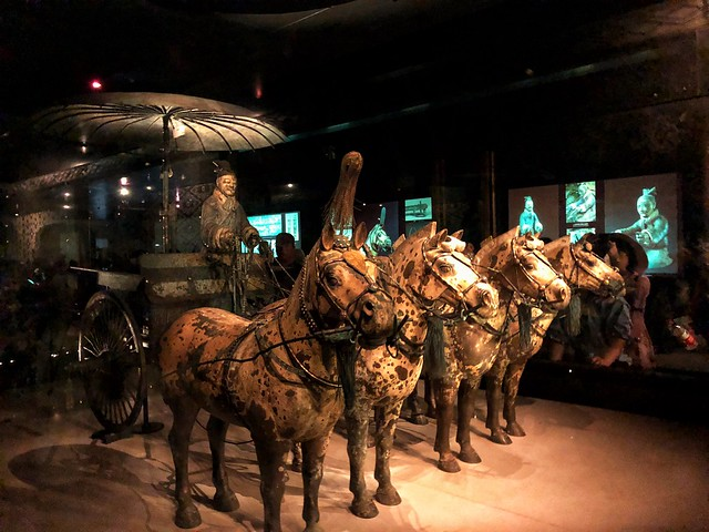 Carrozas de bronce en el Museo de los guerreros de terracota (Xi'an, China)