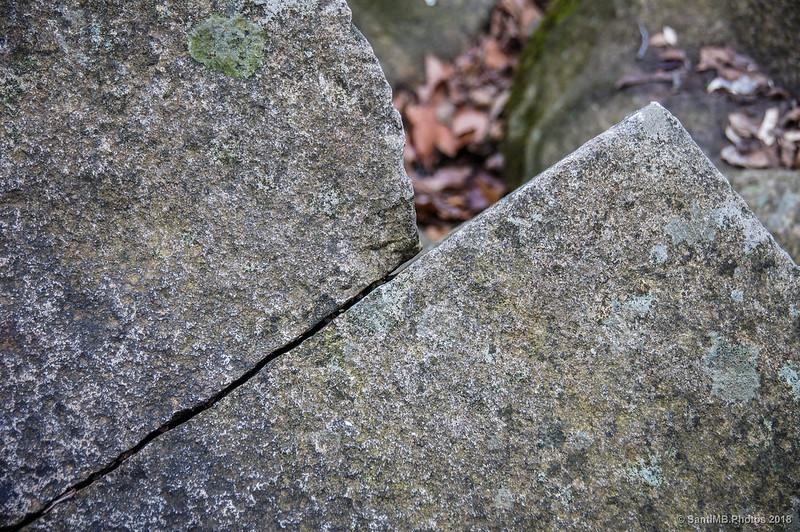Una roca en la Font de la Pintoresca de Breda