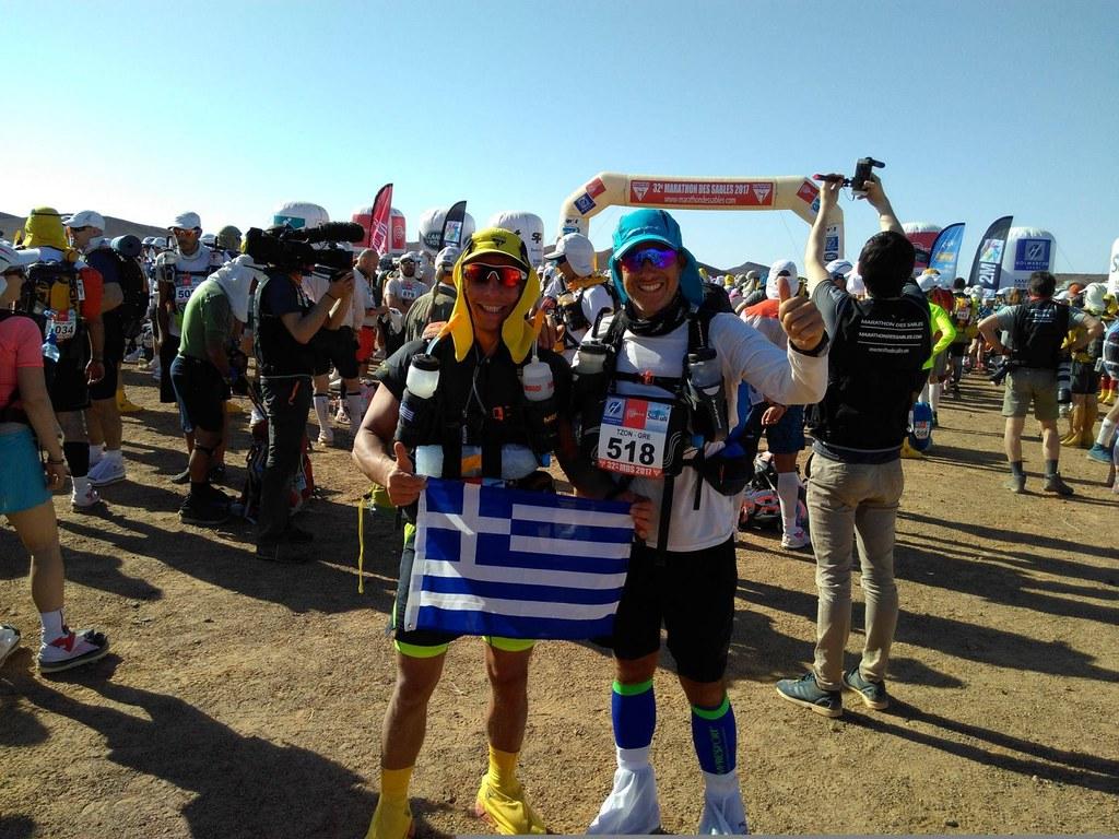 Ο Ζαχαρίας Δανιηλάκης και ο Γιάννης Μιχαηλίδης στο Marathon des Sables 2017!
