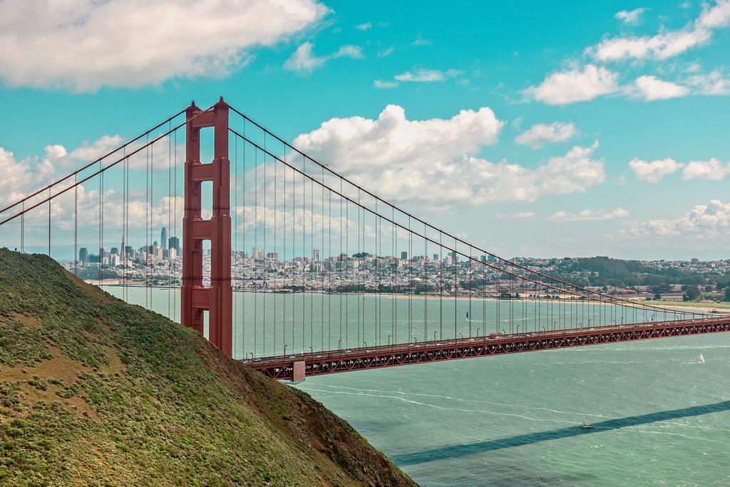 Golden Gate Bridge frames downtown San Francisco | Barry Farber | Flickr