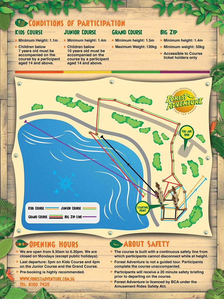 Forest Adventure at Bedok Reservoir Park - Singapore's First and Only Treetop Obstacle Course is now Bigger and Better - Alvinology