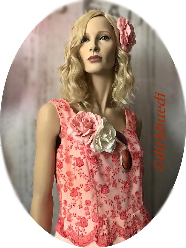 Vintage Abendkleid Rose For Sale In Ebay By Dirkbuedi Flickr