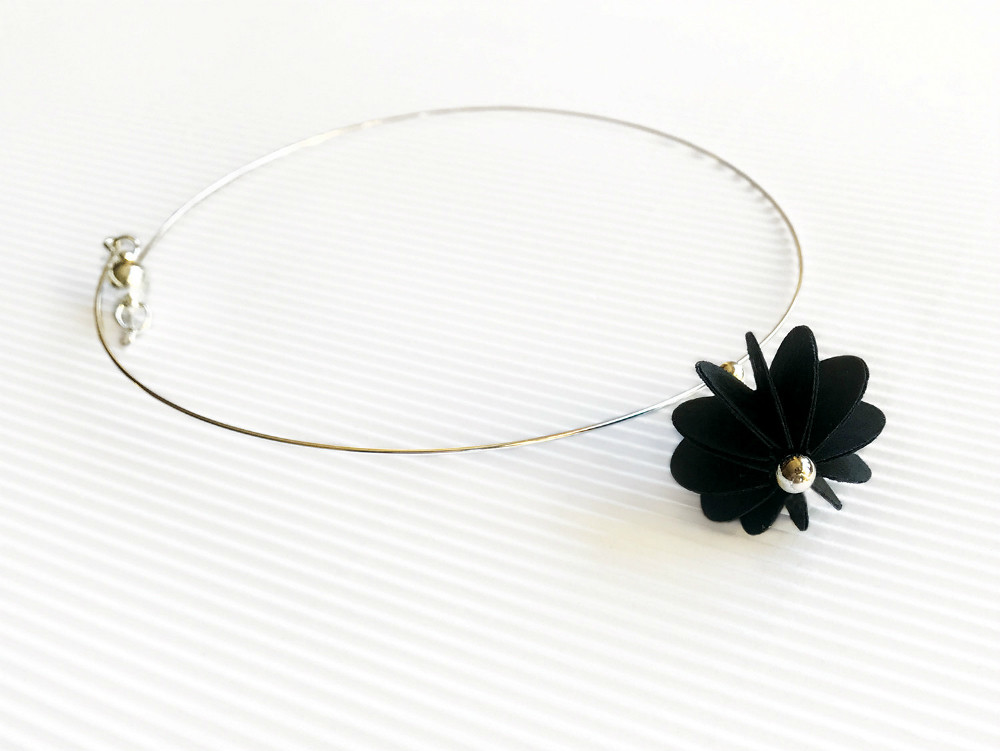 Paper flower necklace by alfieri jewel design blogged www flickr paper flower necklace by alfieri jewel design by all things paper mightylinksfo