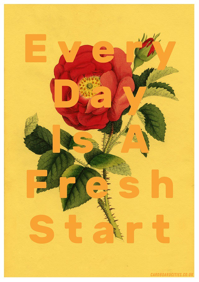 every day is a fresh start collage by laura redburn