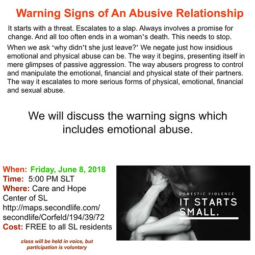 Warning Signs of an Abusive Relationship June 2018 | by mmorganwhitfield of SL