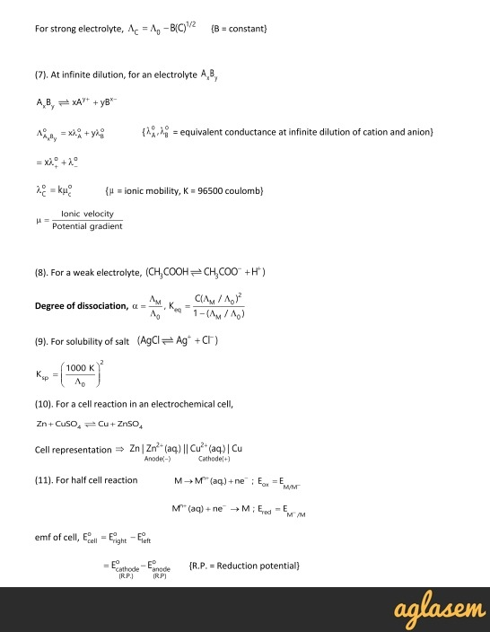 Important Notes of Chemistry for NEET, JEE: Electrochemistry