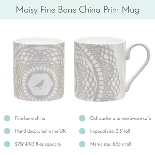 Silver Grey Maisy Mug available now! | by toriejayne