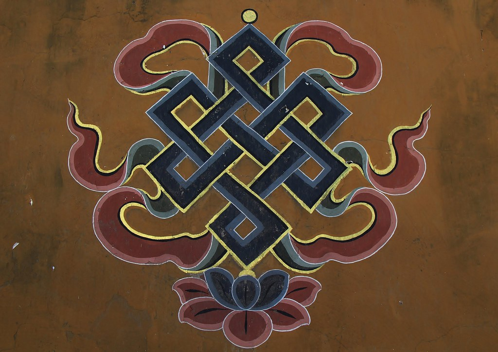 Buddhist Symbols One Of Eight Auspicious Signs Knot Of Flickr