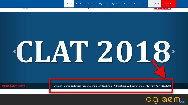 CLAT 2018 Admit Card Postponed, Download From 26 April