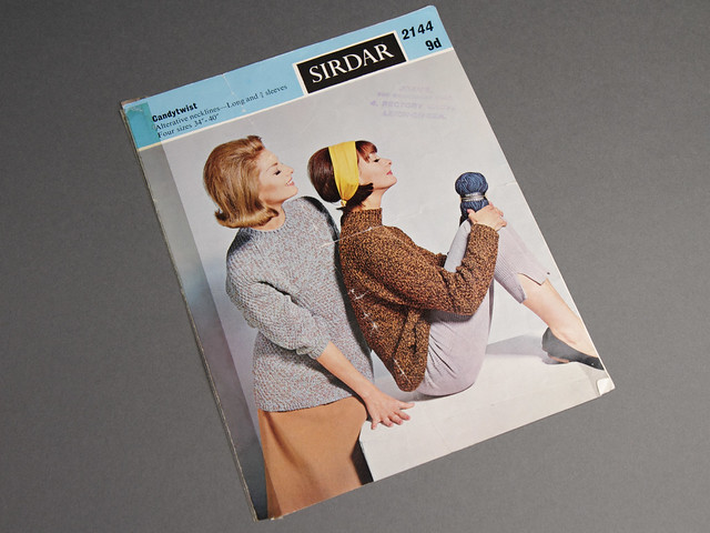 These marled sweaters from the 60s are bang on trend! Vintage knitting pattern 80p