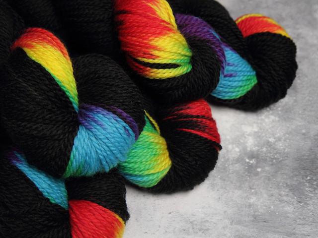 Awesome Aran – pure British superwash wool hand-dyed yarn 100g – 'ZX'