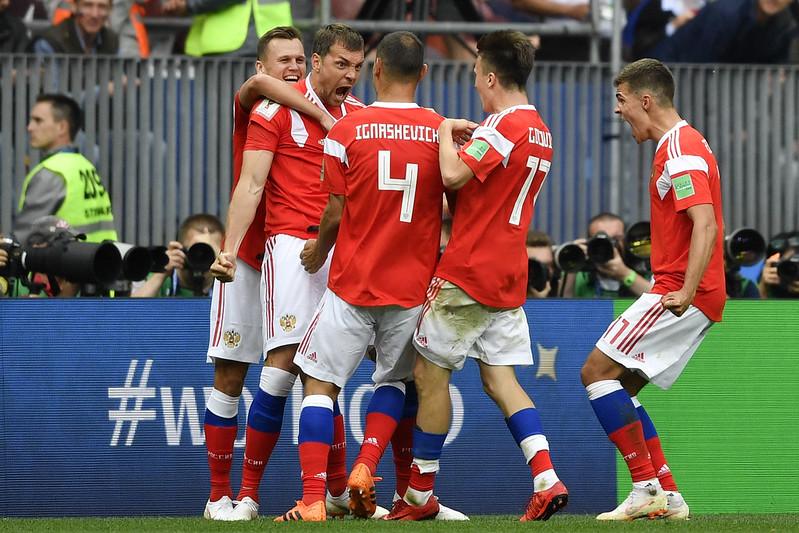 俄羅斯16強賽將出戰西班牙。(AFP授權)