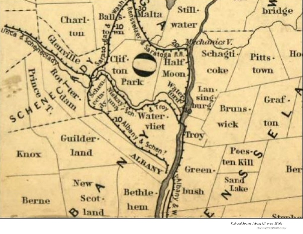 Map railroad routes Albany NY area 1840s   AlbanyGroup Archive   Flickr