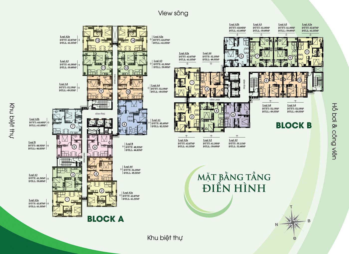 Mặt bằng tầng căn hộ Thủ Thêm Garden quận 9