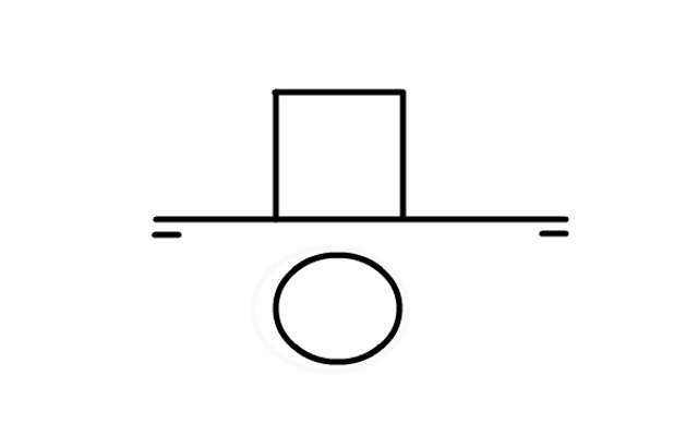 Representación de cilindro en sistema diedrico