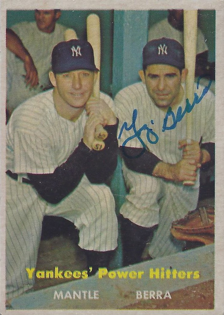 1957 Topps Yankees Power Hitters 407
