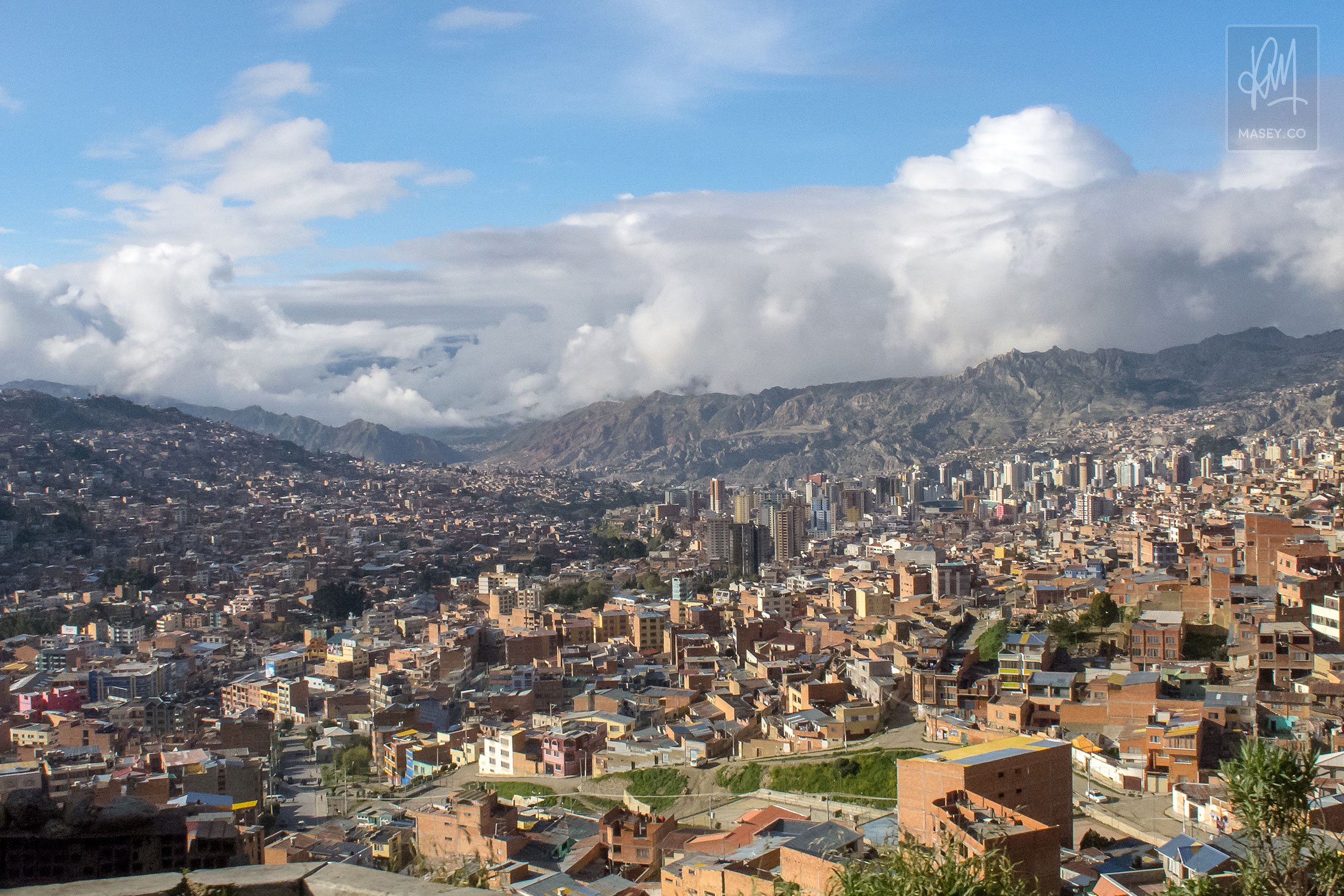 Brick housing for as far as the eye can see across La Paz