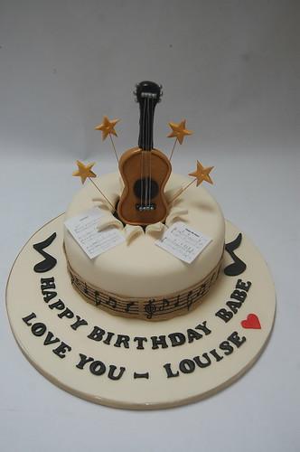 Cool Starburst Guitar Cake Beautiful Birthday Cakes Personalised Birthday Cards Akebfashionlily Jamesorg