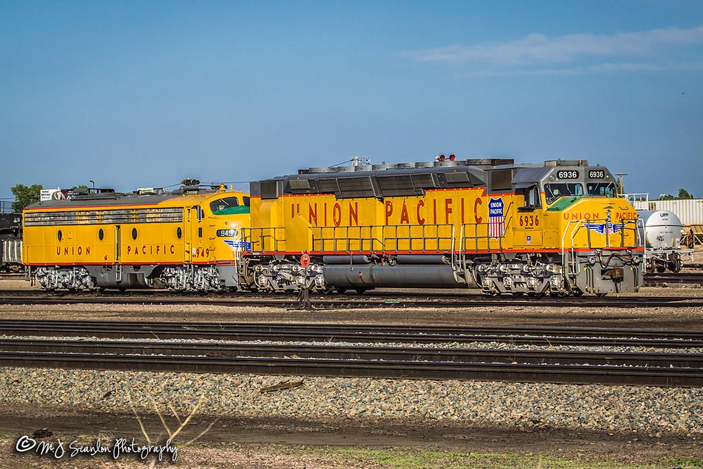 ... UP 6936 | EMD DDA40X | UP Cheyenne Yard | by M.J. Scanlon