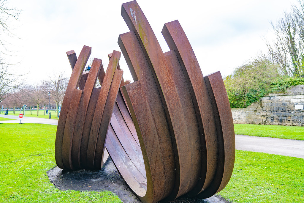 217.5º ARC x 12 by Bernar Venet (Cor-Ten Steel)   001