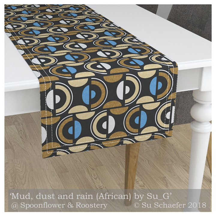 ... Dust And Rain (African) By Su_Gu0027: Table Runner Mockup. U0027