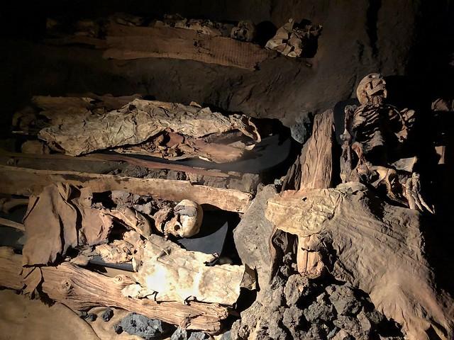 Enterramiento guanche en el museo canario (Las Palmas de Gran Canaria)