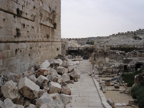 Temple ruins in Jerusalem's Old City | Temple ruins ...