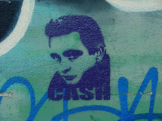 Mural:  Johnny Cash stencil graffiti | by Franco Folini