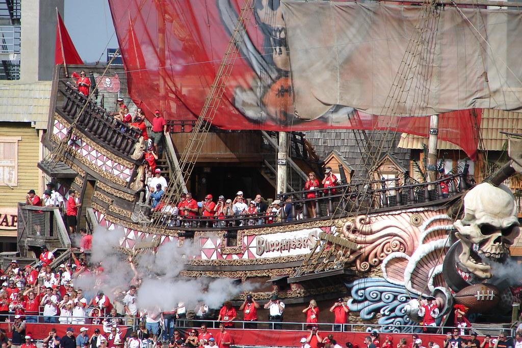 Buccaneer Cove | Cannons Fire When Bucs Score ...