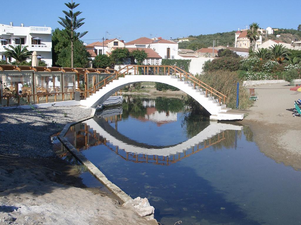 Bridge by Kalives beach