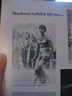 """The Unicycle may beat all other methods of getting to class"" 