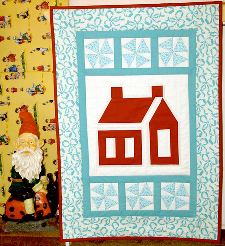 Red & Aqua Swap little quilt | by Happy Zombie