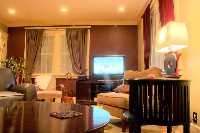 living room at night