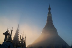 hazy morning on Shwedagon2 | by photography-by-winnaing
