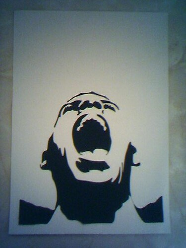 Screaming Stencil This Is A Spraypaint Stencil Version